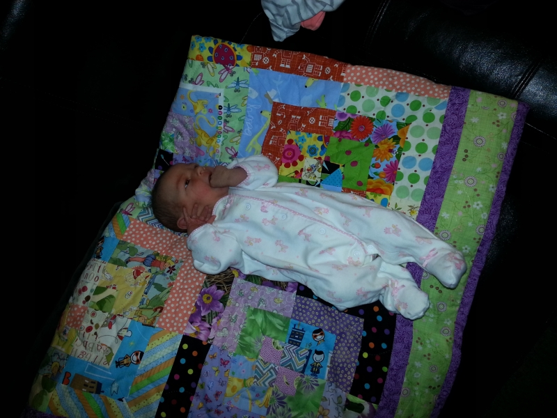 Carina on quilt
