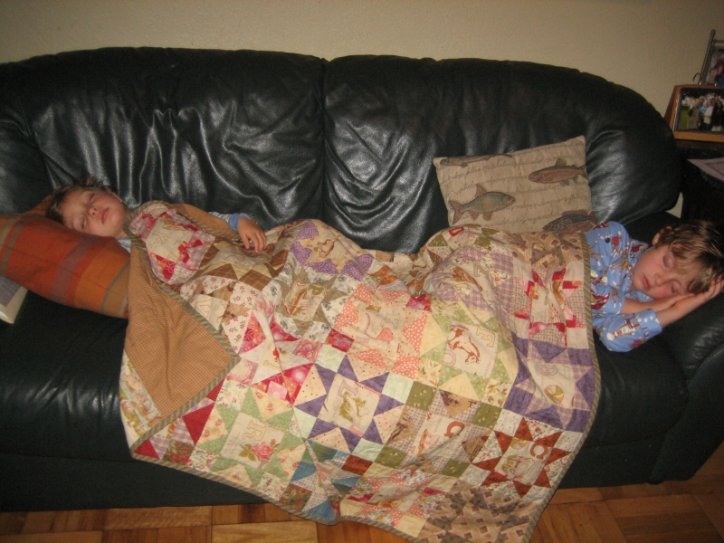 my boys and a quilt